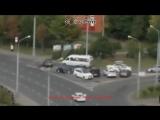 Лихач на ауди протаранил машины в Москве