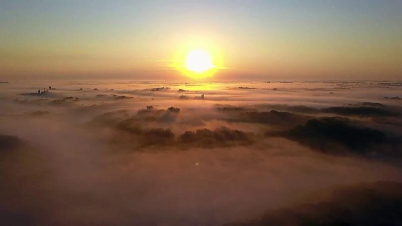 Sunrise Fog on Mississippi River