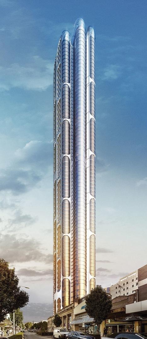 Rafael de La-hoz's one ninety seven building in Australia is an iconic urban marker