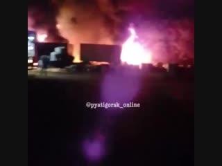 Ночной пожар около Винсадов