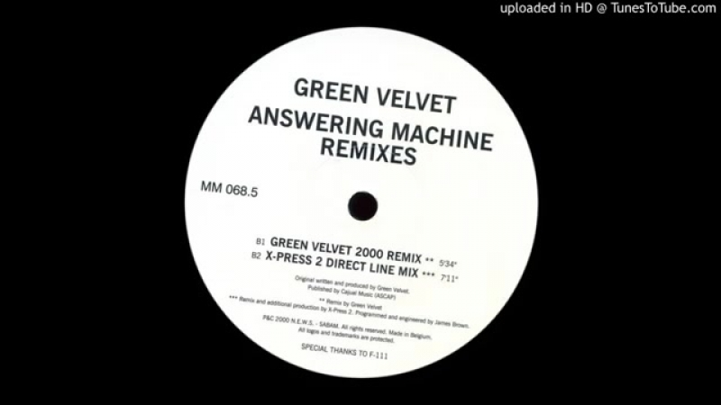 Green velvet ★ answering machine ★ main frame mix