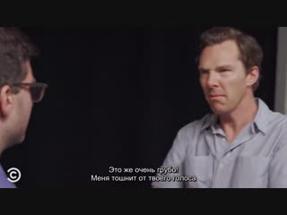 Benedict Cumberbatch's Unconventional Acting Class - After Hours with Josh Horowitz(rus sub)