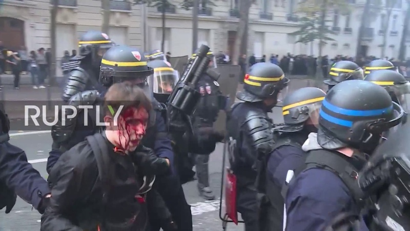 France: Clashes erupt at anti-govt. rally in Paris