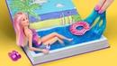 12 лайфхаков для куклы Барби / Зимние каникулы против летних каникул для Барби! Челлендж!