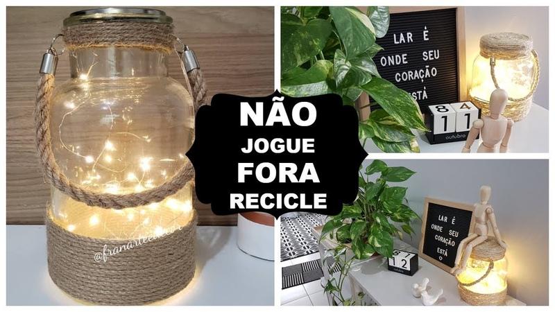 DIY DECOR IDEIA PARA REAPROVEITAR OS POTES DE VIDRO| Viviane Magalhães