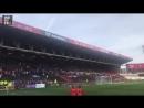 Болельщики празднуют второй гол Жоао в ворота «Бристоль Сити»