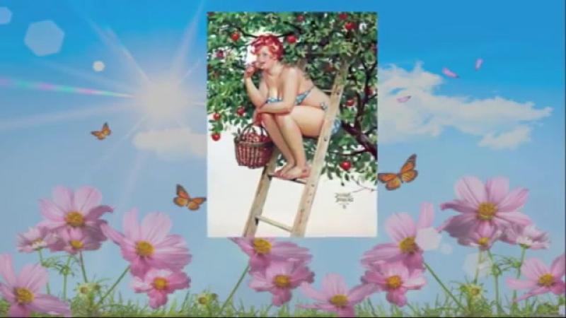 Поздравление подруге с днем рождения Поем караоке Прикольная видео открытка для дамы 30 mp4