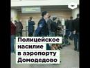 Полицейское насилие в аэропорту Домодедово ROMB