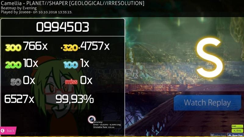 Osu!mania | joseee- 🇵🇭 | Camellia - PLANETSHAPER [GEOLOGICALIRRESOLUTION] | 99.93% 1 FC 411pp