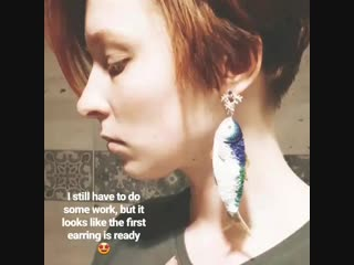 Fish earring embroidery by eira teufel.mp4