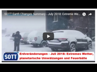 SOTT Earth Changes Summary - July 2018 Extreme Weather, Planetary Upheaval, Meteor Fireballs