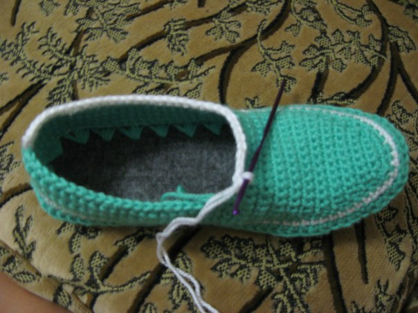 地板鞋  (*crochet) - reallyhe - reallyhe的博客