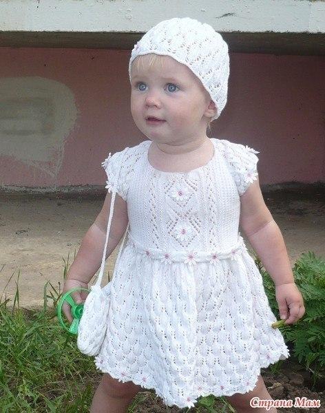 вязание детских платьев спицами записи в рубрике вязание детских