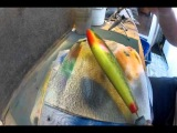 airbrush lure painting, sybe baits video spuiten scales gill envirotex jerkbait