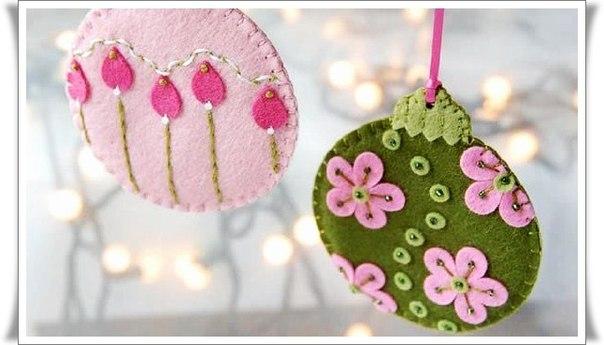 Новогодние игрушки из фетра (5 фото) - картинка