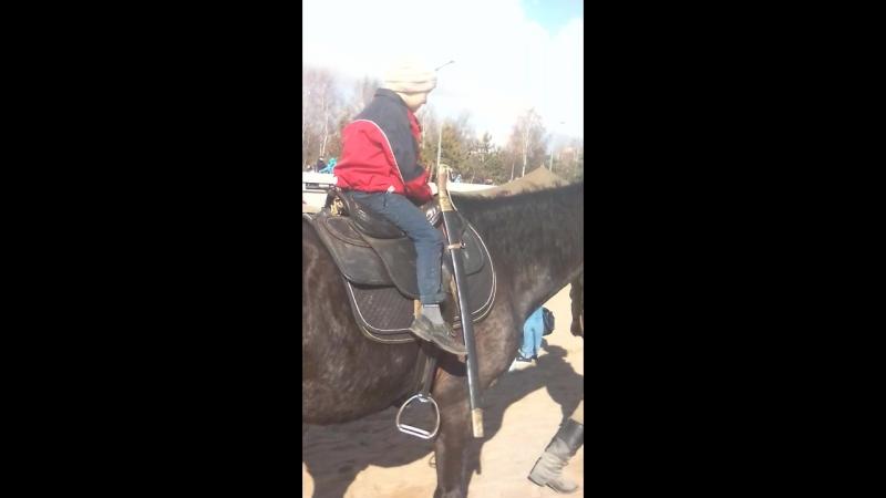 Катание на лошади 29.04.18 парк 300 летия спб