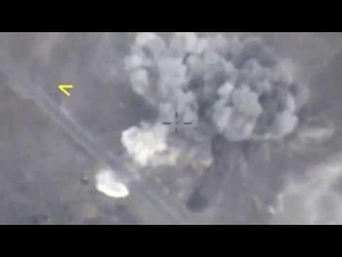 Минобороны опубликовало видео авиаударов по боевикам в Идлибе