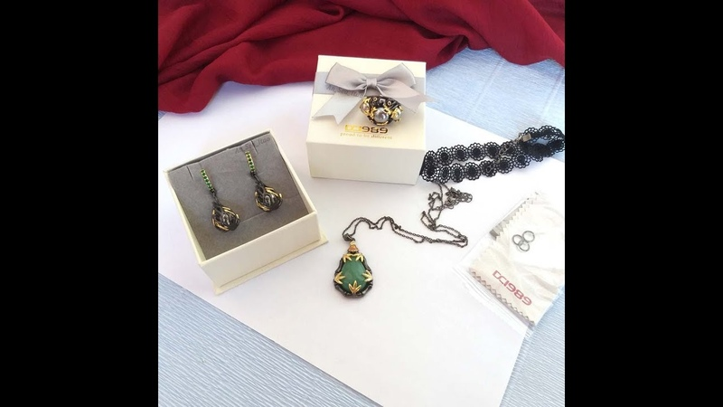 Dream Carnival jewellery from AliExpress. Short review of green jewels. I recommend!