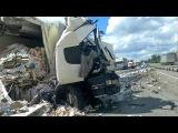 Во Владимирской области произошла крупная авария с участием грузовиков на трассе М-7 «Волга»