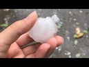 Шквал и град в Вэньчжоу Китай Squall and hail in Wenzhou China