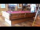 Gyroscopic self leveling pool table
