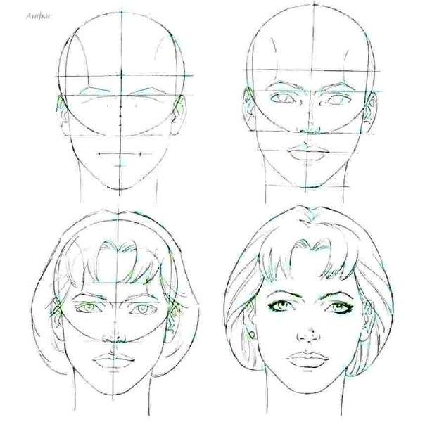 Как нарисовать лицо человека карандашом поэтапно для