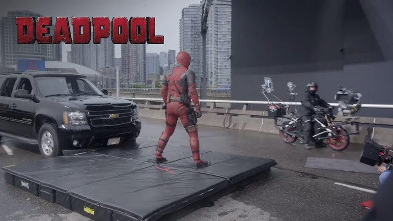Behind the Scenes Clip of Deadpool Motorcycle Sequence   20th Century FOX