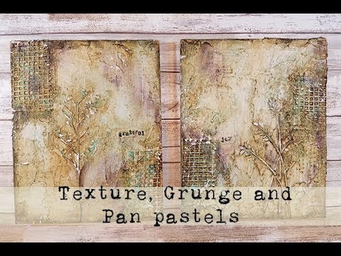 Lets talk texture modeling paste glass bead gel and pan pastels for Donna Downey