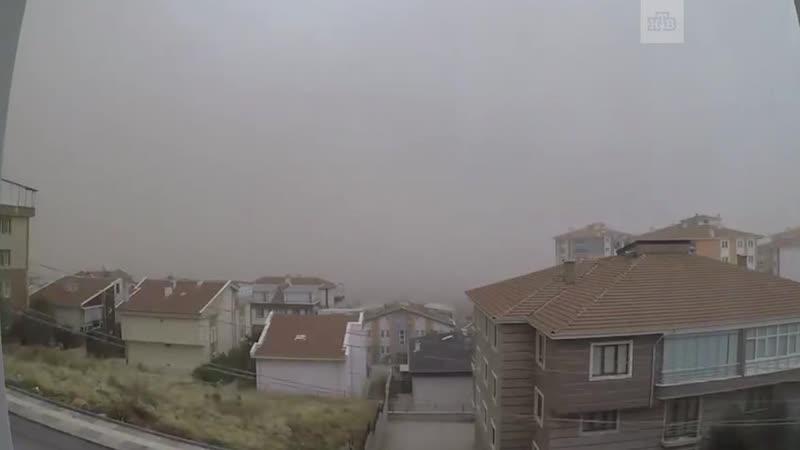 Апокалипсис в Анкаре: столицу Турции накрыла песчаная буря