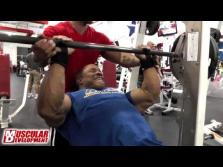 Victor Martinez Trains Arms - 2013 Mr. Olympia Prep