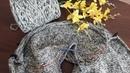 Свитер с капюшоном спицами (толстовка). Часть 3. Росток, подрезы.