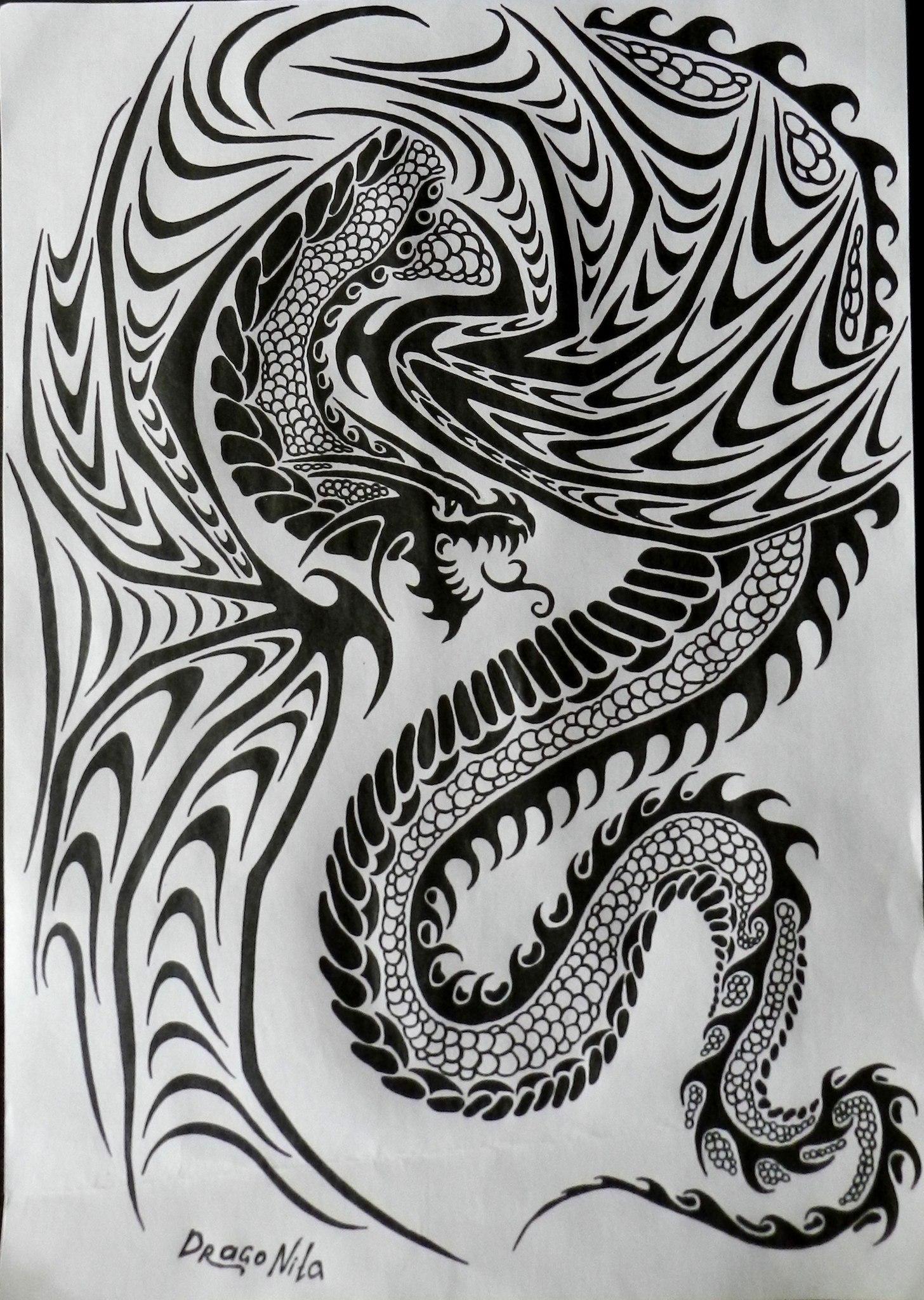Мои драконы на бумаге
