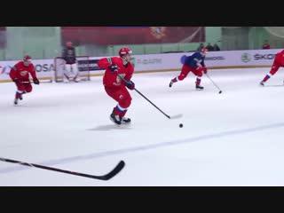 Открытая тренировка сборной России перед Шведскими играми