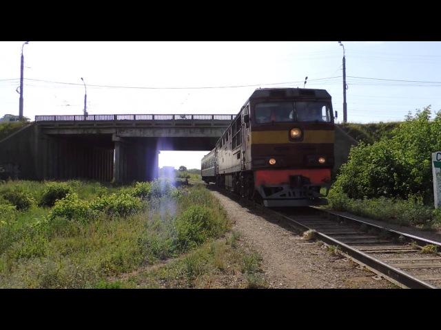 ТЭП70-0566 с пригородным поездом Ижевск-Воткинск
