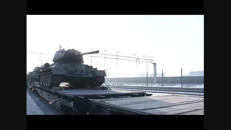 13.01.2019 Альтес На Вокзале станции Чита-II состоялся митинг, посвященный встрече эшелона с танками Т-34