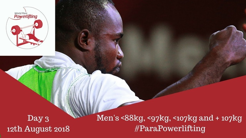 Men's up to 88kg 97kg 107kg and over 107kg Algiers 2018 WPPO African Championships