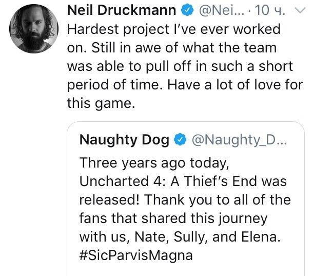 Нил Дракманн считает Uncharted 4 самым сложным проектом в св