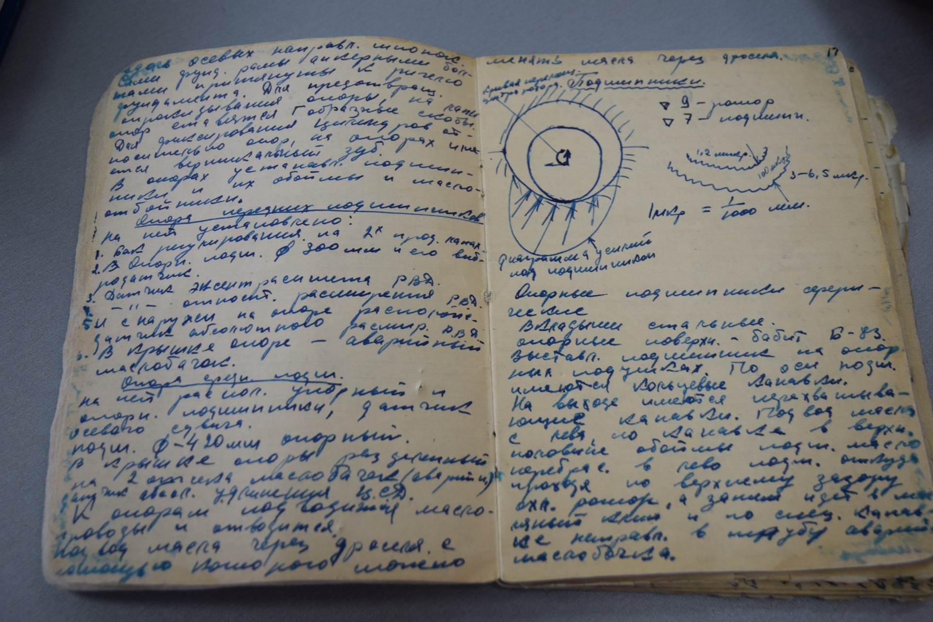 Конспекты и чертежи студента Назаровского энергостроительного техникума