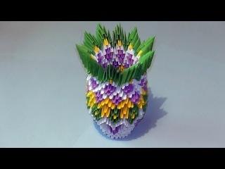 Как сделать вазу модульное оригами видео урок-схема