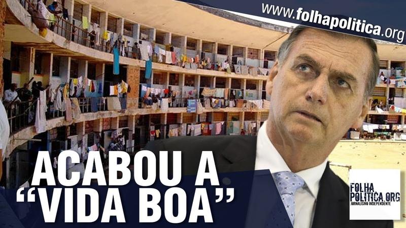 Fim da mamata para presos Veja vídeos em que Bolsonaro anunciou o que pretende fazer com..
