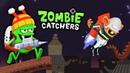 ОХОТА на ЗОМБИ! НОВЫЙ КОРОТЫШКА ЗОМБИ ЛЕТУН Детский летсплей по мульт игре Zombie Catchers