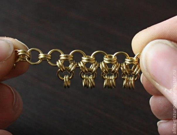 Как сделать цепочку из колец