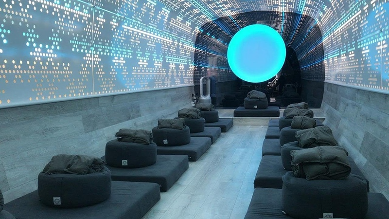 All aboard the meditation bus for a relaxing escape