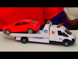 Смешные видео про машинку и эвакуатор от Димы - клоун для детей