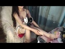 ASMR Fishnet Stockings Popping Candy Shaking Liquid Mouth Sounds 予可的福利视频