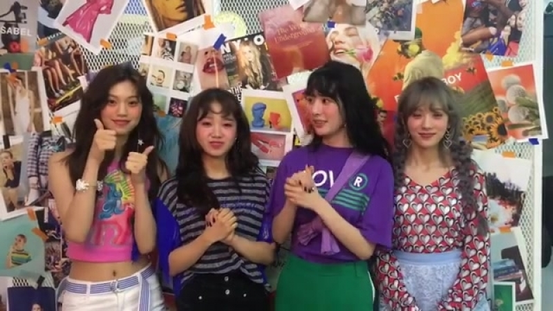 180503 nylonkorea ig with Yoojung, Doyeon, Seola Luda. WJSN, Weki Meki