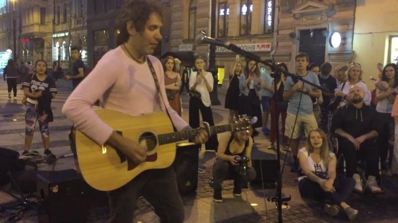 Уличные музыканты (Giovanni Bassano, Италия) - Hallelujah (23/07/2018 Дворцовая площадь)