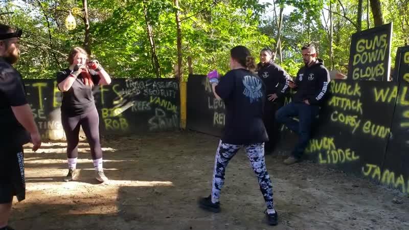 HANIA VS LADY K backyard MMA fight