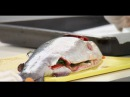 Фаршированную форель запекают с чешуёй мастер-класс от шеф-повара /  Илья Лазерс ...
