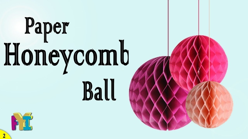 How to make Paper HONEYCOMB BALL